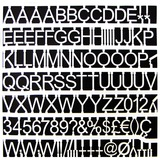 """MasterVision Letters/Numbers/Symbols Set - 0.75"""" (19.1 mm) Height - White - 1 Set"""