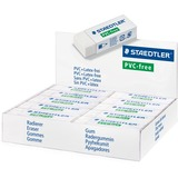 "Staedtler Eraser - Lead Pencil - Latex-free, Smudge-free - 0.51"" (13 mm) Height x 2.56"" (65 mm) Width x 0.91"" (23 mm) Depth - 1Each"
