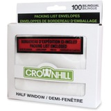 """Crownhill Backloading Poly Packing List Envelope - Packing List - 5"""" Width x 4"""" Length - 100 / Pack - Clear"""