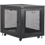 "Tripp Lite SmartRack SR12UB Enclosure Rack Cabinet - 12U Rack Height x 19"" (482.60 mm) Rack Width - 453.59 kg Maximum Weight Capacity"