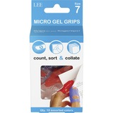 """LEE Micro Gel Grips - #7 with 0.69"""" (17.46 mm) Diameter - Medium Size - Rubber - Assorted - 10 / Pack"""