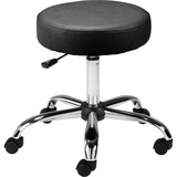 Lorell Backless Pneumatic Height Stool - 124.74 kg Load Capacity - Black