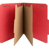 """Nature Saver 2-divider Letter Classification Folders - Letter - 8 1/2"""" x 11"""" Sheet Size - 2"""" Fastener Capacity for Folder - 2 Divider(s) - 25 pt. Folder Thickness - Red - Recycled - 10 / Box"""