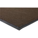 "Genuine Joe Waterguard Wiper Scraper Floor Mats - Carpeted Floor - 72"" (1828.80 mm) Length x 48"" (1219.20 mm) Width - Polypropylene - Brown"