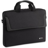 """Solo Sterling Carrying Case (Messenger) for 16"""" Notebook - Black - Ballistic Poly, Polyester - Shoulder Strap, Handle - 11.75"""" (298.45 mm) Height x 16.50"""" (419.10 mm) Width x 2"""" (50.80 mm) Depth"""