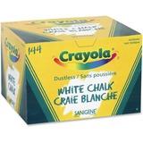Crayola Dustless Chalk Stick - White - 144 / Box