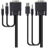10FT CBL MMF DVI USB AUD DVI-D M/M USB A