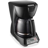 Proctor Silex 43672 Brewer - Programmable - 12 Cup(s) - Multi-serve - Yes - Black - Plastic