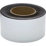 """Baumgartens Magnetic Labeling Tape - 3"""" (76.2 mm) Width x 16.7 yd (15.2 m) Length - Reusable, Repositionable - 1 / Roll - White"""