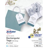 "Avery® Printable Tags with Strings, 2"" x 3-1/2"", 2-Side Printing, 96 Tags (22802)"