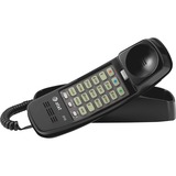 AT&T 210 Corded Trimline Phone with Speed Dial and Memory Buttons, Black