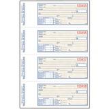 "Adams Security Receipt Book - 200 Sheet(s) - 2 Part - Carbonless Copy - 2.75"" x 7.12"" Form Size - 1 Each"