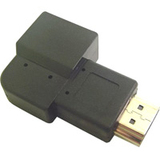 Right Angle HDMI Male-Female Vertical Down Adapter / Mfr. No.: 35-709a