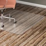 """Lorell Hard Floor Rectangular Chairmat - Tile Floor, Vinyl Floor, Hardwood Floor - 60"""" (1524 mm) Length x 46"""" (1168.40 mm) Width x 60 mil (1.52 mm) Thickness - Rectangle - Vinyl - Clear"""