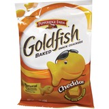 Goldfish Pepperidge Farm Goldfish Shaped Crackers - Trans Fat Free - Cheddar - 1 Serving Bag - 42.5 g - 72 / Carton