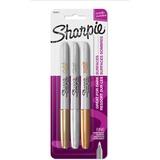 Sharpie Metallic Permanent Markers - Fine Marker Point - Gold, Silver, Bronze Alcohol Based Ink - 3 / Set