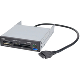 SIIG USB 3.0 Internal Bay Multi Card Reader - Secure Digital (SD) Card, Secure Digital High Capacity (SDHC), microSD Card, MultiMediaCard (MMC), Memory Stick PRO, Memory Stick Duo, CompactFlash (CF) Card, xD-Picture Card - USB 3.0