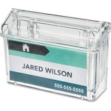 """Deflecto Outdoor Business Card Holder - 2.75"""" (69.85 mm) x 4.25"""" (107.95 mm) x 1.50"""" (38.10 mm) - 1 / Each - Clear"""
