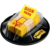 "Post-it® Desk Grip Dispenser with 1"" Sign Here Flags"