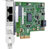 HP NIC 361T 1GbE RJ-45 2-Port PCI-E-2.1x4 Ethernet Controller (Intel I350) for Workstations