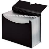 "Pendaflex Second Nature Expanding Multi-Pocket Letter-Size Files - Letter - 8 1/2"" x 11"" Sheet Size - 13 Pocket(s) - Poly - Black - 1 Each"