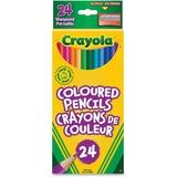 Crayola Colored Pencil - 3.3 mm Lead Diameter - Assorted Lead - Wood Barrel - 24 / Pack