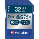 Verbatim 32GB Pro 600X SDHC Memory Card, UHS-1 U3 Class 10
