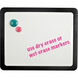 """Lorell Magnetic Dry-erase Board - 15.9"""" (1.3 ft) Width x 12.9"""" (1.1 ft) Height - Black Frame - 1 Each"""