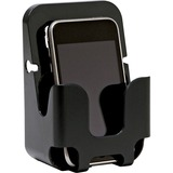 Lorell Cubicle Wall Recycled Cell Phone Holder - Plastic - 1 Each - Black
