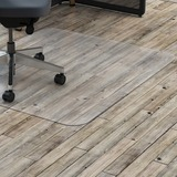 """Lorell Hard Floor Rectangler Polycarbonate Chairmat - Hard Floor, Vinyl Floor, Tile Floor, Wood Floor - 48"""" (1219.20 mm) Length x 36"""" (914.40 mm) Width x 0.13"""" (3.38 mm) Thickness - Rectangle - Polycarbonate - Clear"""