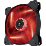Corsair Air Series AF140 LED Red Quiet Edition High Airflow 140mm Fan - 1 Pack - 1 x 140 mm - Plastic