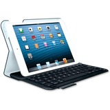 "Logitech Keyboard/Cover Case (Folio) for 7"" Apple iPad mini Tablet - Black"