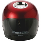 Westcott iPoint Ball Battery Pencil Sharpener - Red, Black