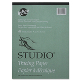 """Hilroy Tracing Paper Pad - 44 Sheets - Plain - 9"""" x 12"""" - Transparent Paper - Lightweight - 1Each"""
