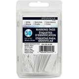 "Merangue 50 Pack White Strung Tags - 0.94"" (23.80 mm) Length x 1.50"" (38.10 mm) Width - Rectangular - String Fastener - 50 / Pack - White"