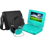 "Ematic EPD707 Portable DVD Player - 7"" Display - 480 x 234 - Teal - DVD-R, CD-R - JPEG - DVD Video, Video CD, MPEG-4 - CD-DA, MP3 - 1 x Headphone Port(s) - Lithium Polymer (Li-Polymer) - 2 Hour"