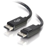 C2G 6ft DisplayPort Cable with Latches M/M - Black