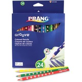 Prang Slim Coloured Pencils - 3.3 mm Lead Diameter - Assorted Lead - 24 / Set