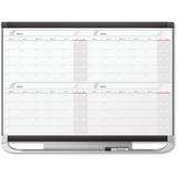 Quartet® Prestige® 2 Magnetic Four Month Calendar Board, 4' x 3', Total Erase® Surface