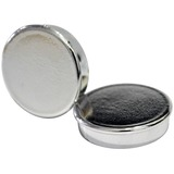 """MasterVision Planning Board Magnets - 1"""" (25.40 mm) Diameter - Round - 10 / Pack - Silver"""