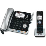 AT&T Connect to Cell TL86103 DECT 6.0 Cordless Phone - Silver Black - 2 x Phone Line - Speakerphone - Answering Machine