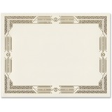 """First Base Linen Certificates with Foil - 8.50"""" x 11"""" - Laser, Inkjet Compatible - Ivory, Gold with Gold Border15 / Pack"""