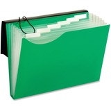 "Pendaflex Expandable Letter-size 7-Pocket Poly File - Letter - 8 1/2"" x 11"" Sheet Size - 7 Pocket(s) - Polyurethane - Green - 1 Each"