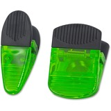 Merangue Magnetic Jumbo Clips - for Paper - Heavy Duty - 1Pack - Green - Rubber