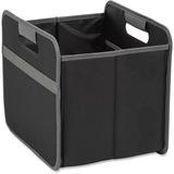 "Merangue Fully Collapsible Storage Bins - Internal Dimensions: 12"" (304.80 mm) Width x 9.50"" (241.30 mm) Depth x 10.50"" (266.70 mm) Height - External Dimensions: 12.8"" Width x 10.3"" Depth x 11.5"" Height - Nylon, Vinyl - Black - For File, Folder - 1 Each"