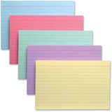"""TOPS Colour Pack Index Cards - 6"""" Divider Width - Cherry, Green, Canary, Blue, Violet Divider - 100 / Pack"""