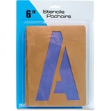"U.S. Stamp & Sign Brown Paper Letters/Numbers Stencils - 6"" (152.40 mm) - Number, Capital Letter - Natural, Purple"