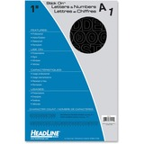 """Headline Stick on Letters and Numbers - Self-adhesive - Water Proof, Permanent Adhesive - 1"""" (25.4 mm) Length - Black - Vinyl - 1 Each"""