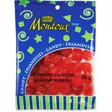 Mondoux Red Raspberries Candy - Red Raspberry - 50 g - 1 Bag