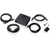 IOGEAR 4x4 USB 3.0 Peripheral Sharing Switch - USB - External - 4 USB Port(s) - 4 USB 3.0 Port(s) - PC, Mac, Linux